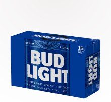 Bud Light 15pk 12oz Cans