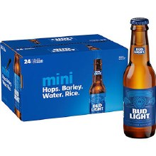 Bud Light 24pk 7oz Bottles