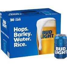 Bud Light 30pk 12oz Cans