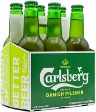 Carlsberg Premium Danish Pilsner 6pk 12oz Bottles