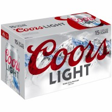 Coors Light 15pk 12oz Cans