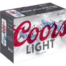 Coors Light 36pk 12oz Cans