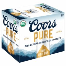 Coors Pure Organic Light 12pk 12oz Cans