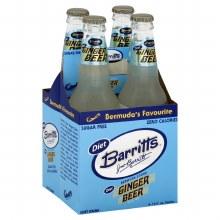 Barritts Diet Ginger Beer 4pk 12oz Bottles