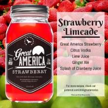 Great America Strawberry Moonshine 23.5oz Jar