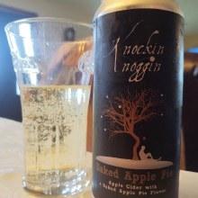 Knockin Noggin Baked Apple Pie Cider 16oz Can