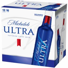 Michelob Ultra 12pk 16oz Aluminum Bottles