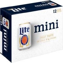 Miller Lite 12pk 8oz Mini Cans