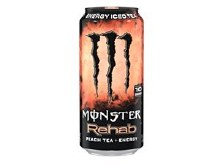 Monster Rehab Peach Tea + Energy 15.5oz Can