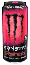 Monster Rehab Raspberry Tea + Energy 15.5oz Can