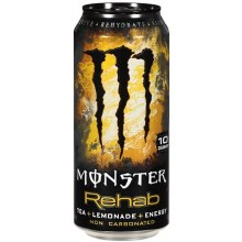 Monster Rehab Tea + Lemonade + Energy 15.5oz Can