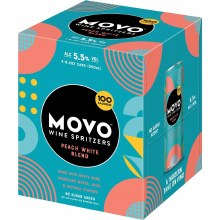 Movo Peach White Blend Wine Spritzer 4pk 8.4oz Cans