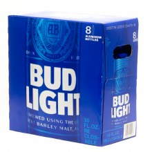 Bud Light 8pk 16oz Aluminum Bottles