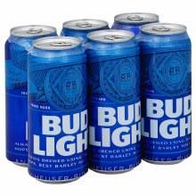 Bud Light 6pk 16oz Cans