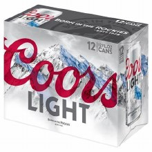 Coors Light 12pk 12oz Cans