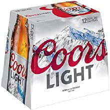 Coors Light 12pk 12oz Bottles