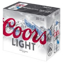 Coors Light 30pk 12oz Cans