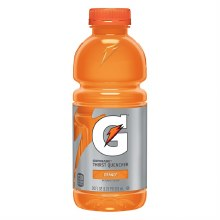 Orange Gatorade 20oz Plastic Bottle