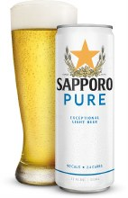 Sapporo Pure Exceptional Light Beer 6pk 12oz Cans