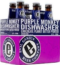 Evil Genius Purple Monkey Dishwasher Chocolate Peanut Butter Porter 6pk 12oz Bottles