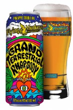 Flying Monkeys Grand Terrestrial Rhapsody Pineapple Double IPA 16oz Can