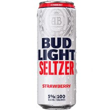 Bud Light Seltzer Strawberry 25oz Can