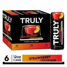 Truly Strawberry Lemonade Hard Seltzer 6pk 12oz Cans