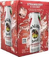 Malibu Splash Watermelon 4pk 12oz Cans