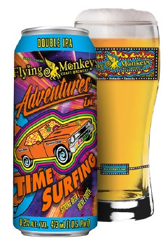 Flying Monkey Adventures in Time Surfing Double IPA 4pk 16oz Cans