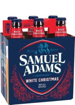 Sam Adams White Christmas White Ale With Spice 6pk 12oz Bottles