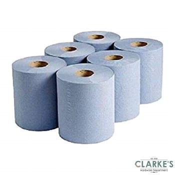 Blue Paper Rolls Pack of 6