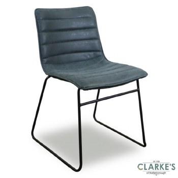 Brooklyn PU Dining Chair Blue