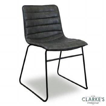Brooklyn PU Dining Chair Grey