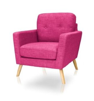 Cleo Accent Chair Pink Colour