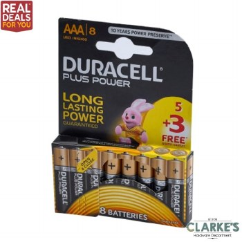 Duracell Plus Power AAA Batteries 8 Pack