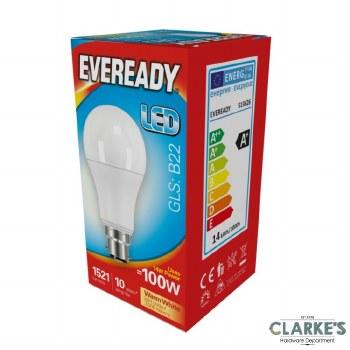 Eveready LED 14W (100W) B22 GLS Light Bulbs 5 Pack