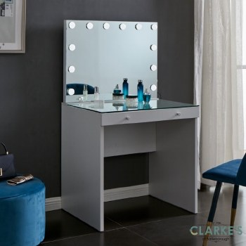 Hollywood Vanity Table with Mirror. FREE Nationwide Delivery!