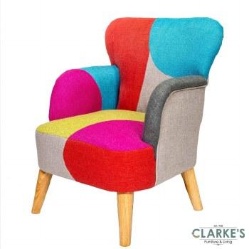 Lilly Linen Patchwork Kids Chair