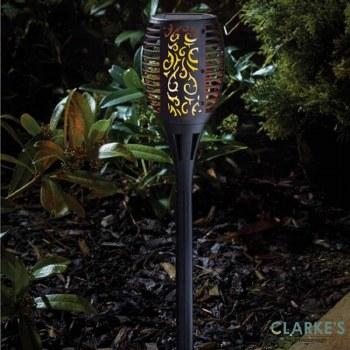 Cool Flame Torch - Garden Solar Steak Light Black 75 cm