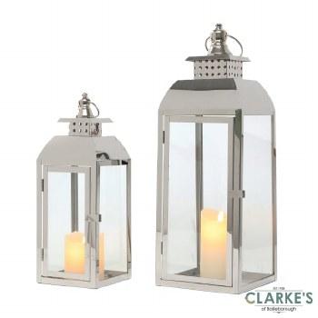 Tiffany Chrome Lanterns. Set of 2