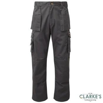 Tuff Stuff Pro 711 Work Trousers Grey W34 L30