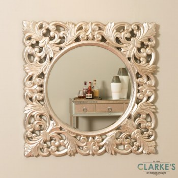 Varina Champagne Wall Mirror 90cm