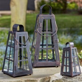 Alexandria Garden Lanterns Pack of 3