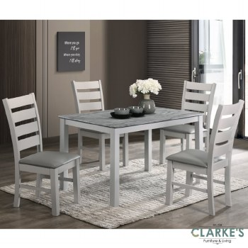 Alicante dining table set. Table and 4 chairs