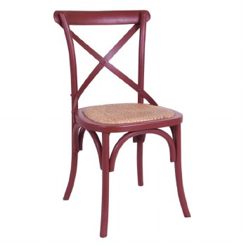 Balmoral Cross Back Chair Burgundy