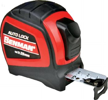 Benman Auto-Lock Mesuring Tape 7.5m - 24ft