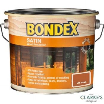 Bondex Satin Wood Protection Teak 2.5 Litre