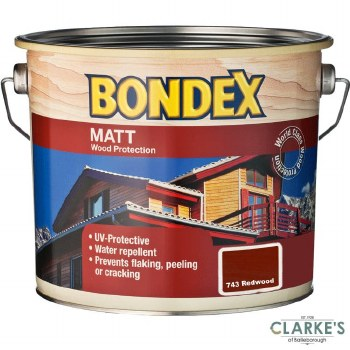 Bondex Matt Wood Protection Redwood 2.5 Litre