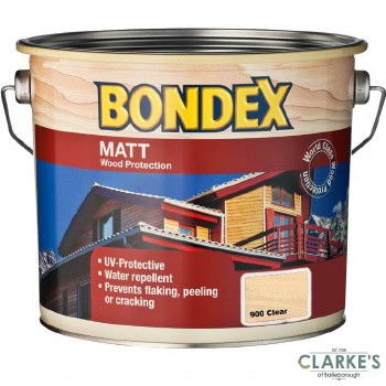 Bondex Matt Wood Protection Clear 2.5 Litre