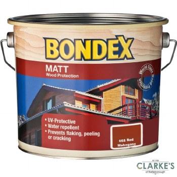 Bondex Matt Wood Protection Red Mahogany 2.5 Litre